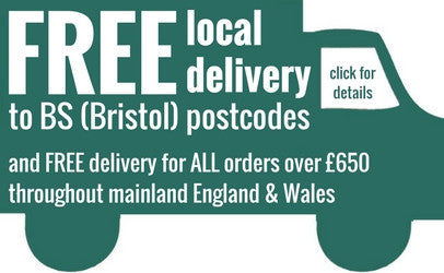 Free delivery within Bristol and free elsewhere over £600