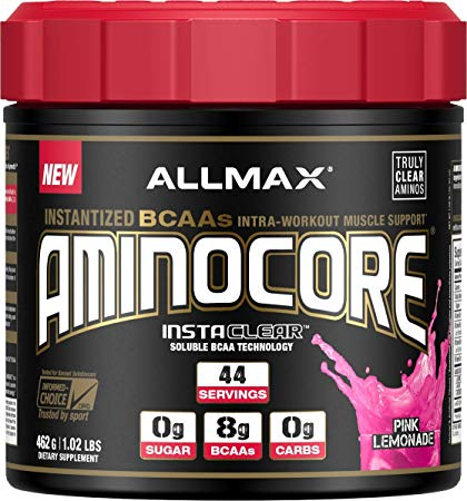 ALLMAX Nutrition Aminocore BCAAs, Pink Lemonade, 16.30 oz