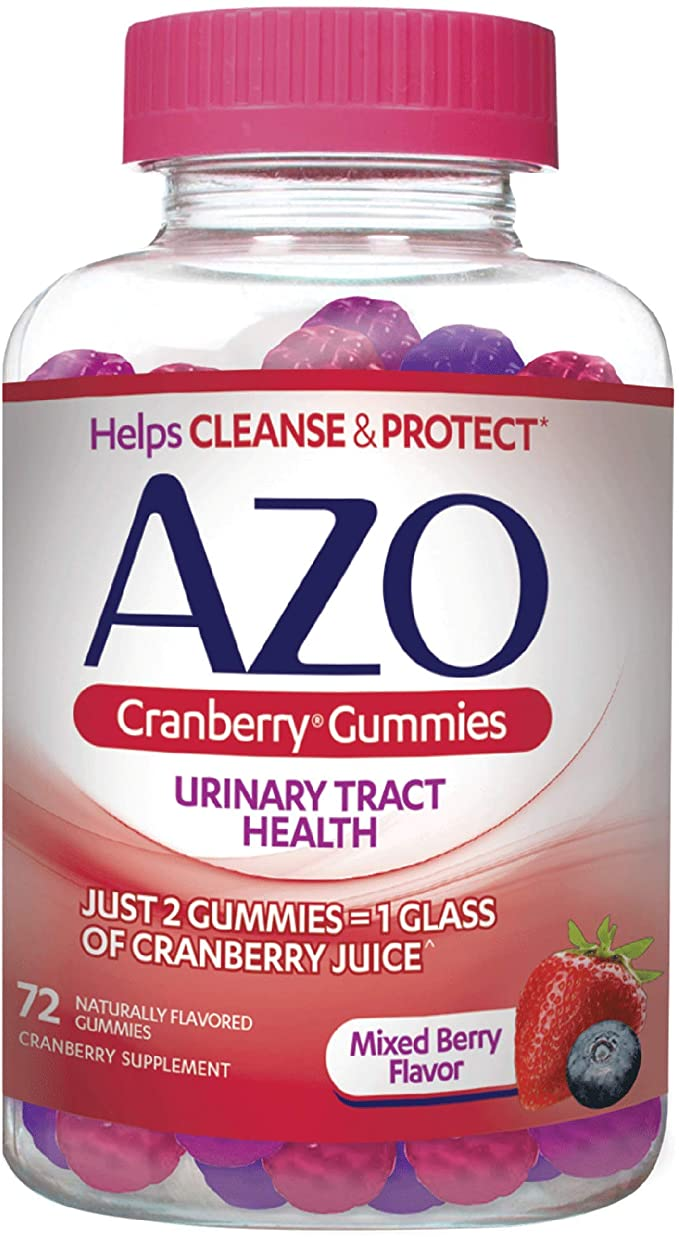 AZO Cranberry Urinary Tract Health Gummies Suplemento dietético, 7001517601024, 72 unidades, 1