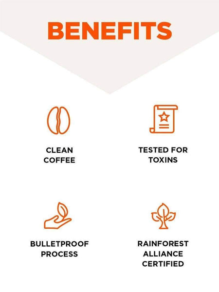 Bulletproof French Kick café molido tostado medio, 12 oz, Keto Friendly, café limpio certificado, Rainforest Alliance