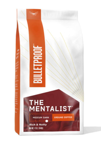 Bulletproof The Mentalist café molido tostado medio, 12 oz, Keto Friendly, café limpio certificado, Rainforest Alliance