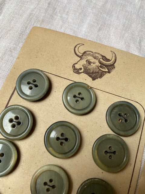 Horn vintage buttons #7004