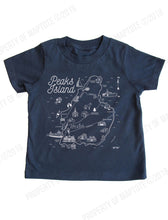 Load image into Gallery viewer, Kids Peaks Island Map T-shirt