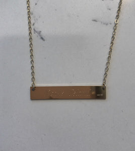 Peaks Island Lat & Lo bar necklace