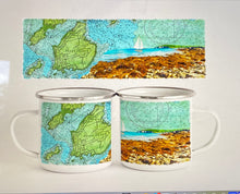 Load image into Gallery viewer, Peaks Island Map Camp Mug