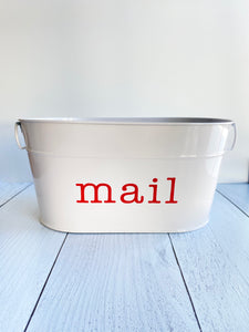 Custom White Oval Metal Bin