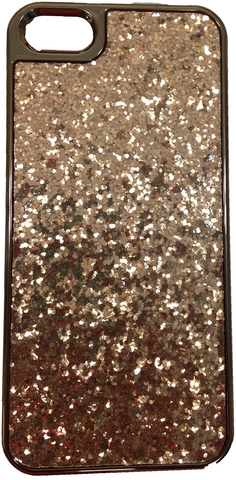 Gold Glitter Flakes for iPhone 5