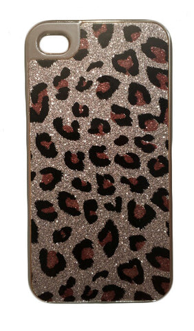Silver Cheetah Glitter Slim Case for iPhone 4/4s