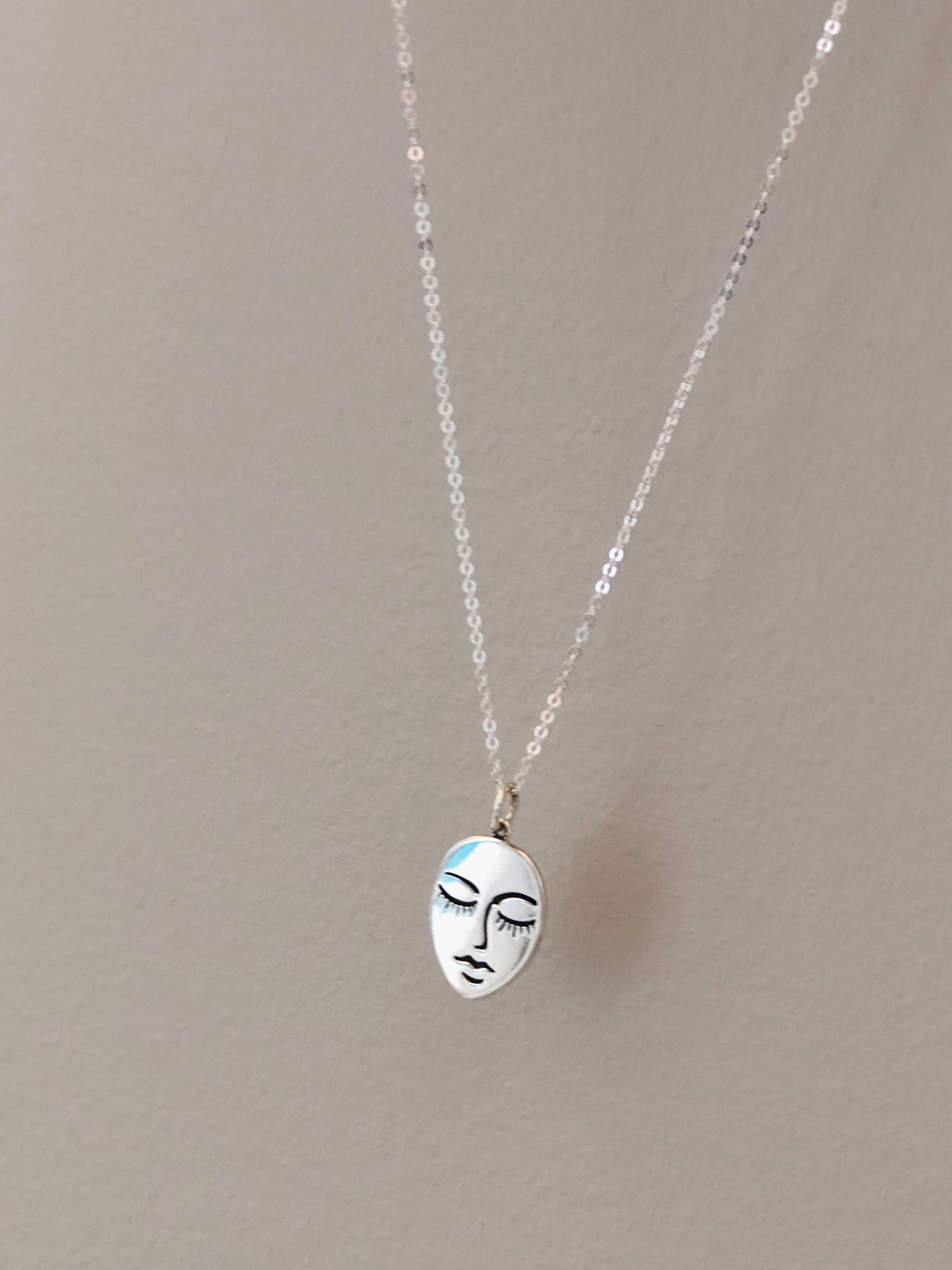 Face Medallion Necklace