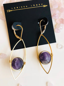 Tempest Earrings {Amethyst}