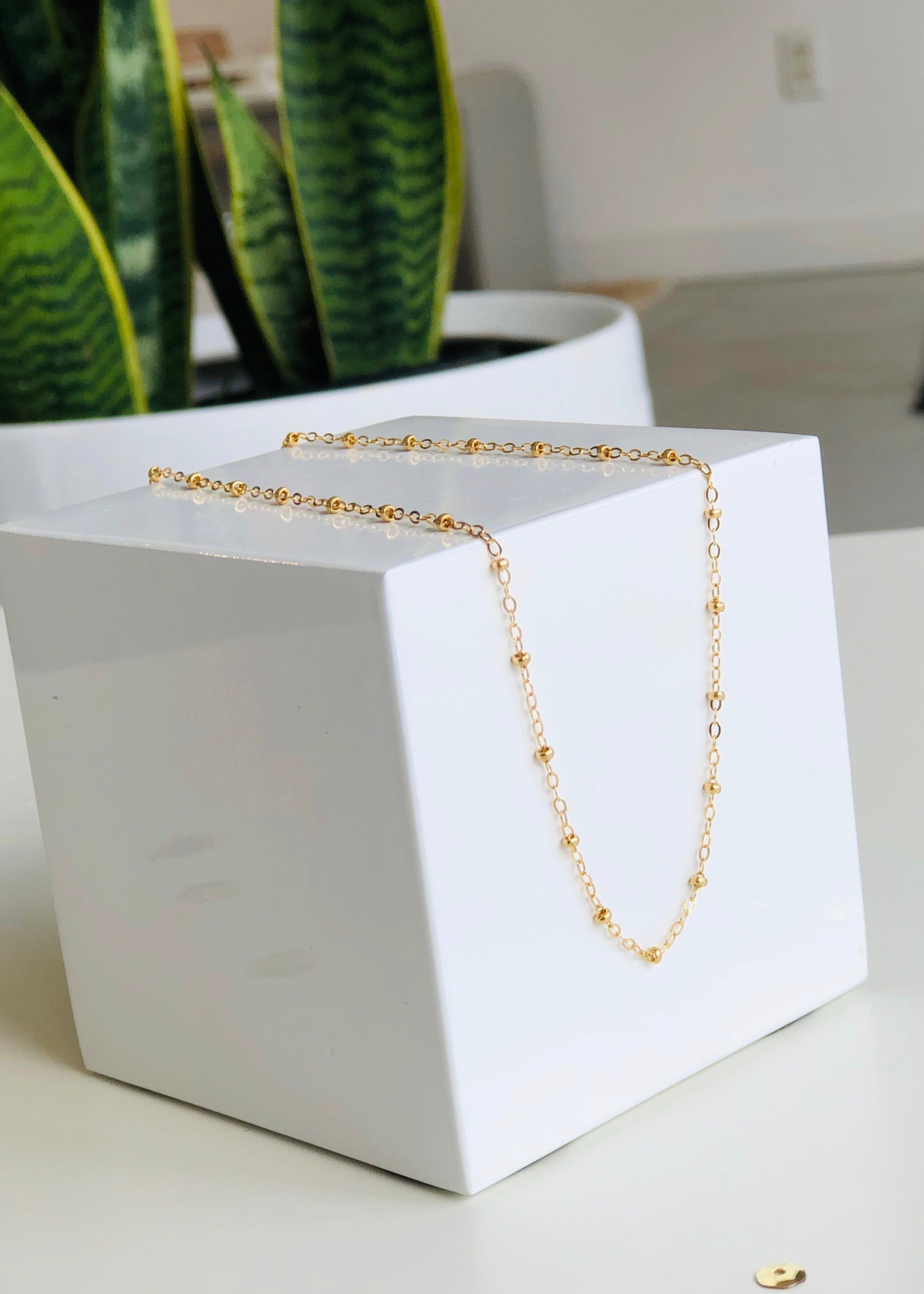 Ball Chain Layering Necklace