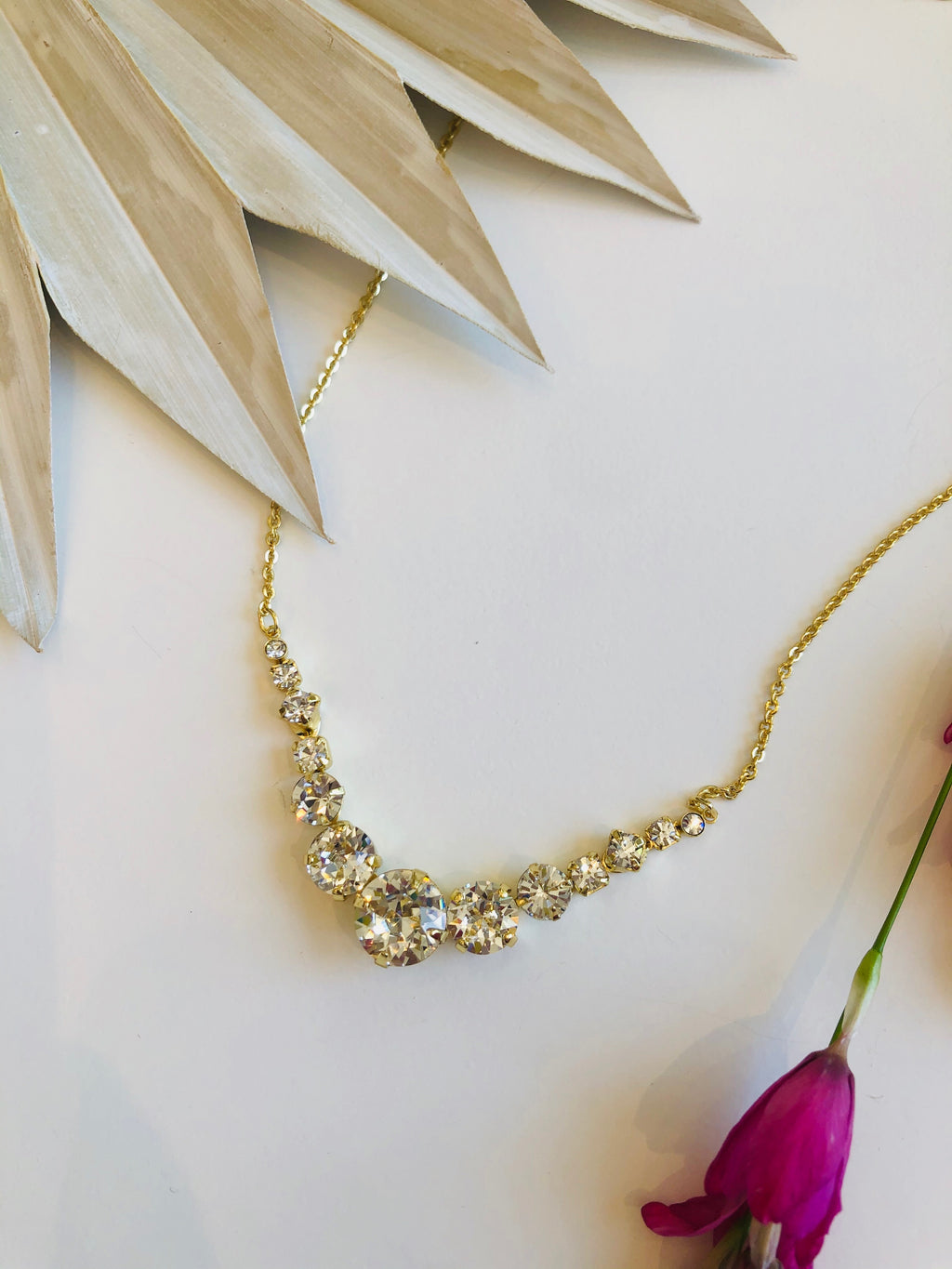 Delicate Round Crystal Necklace