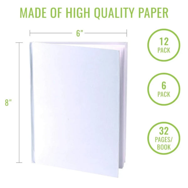 "Blank Books (Pack of 12) - 6"" x 8"""