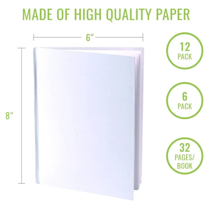 Hardcover white blank books