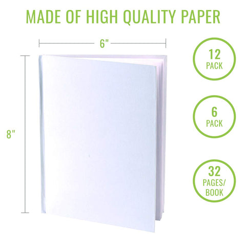 White hardcover blank books for writing stories