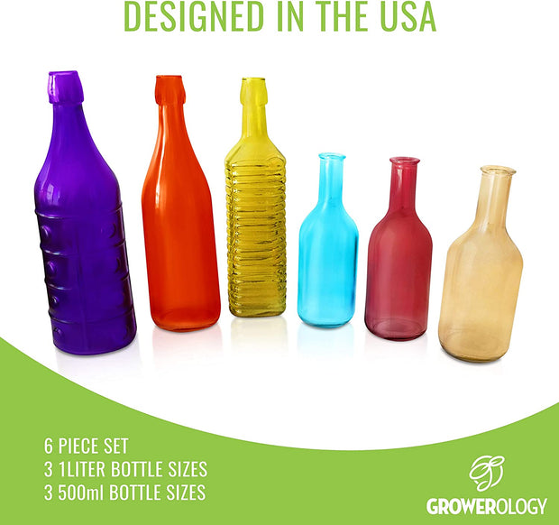 Colorful Decorative Vintage Bottle (6 Pcs)