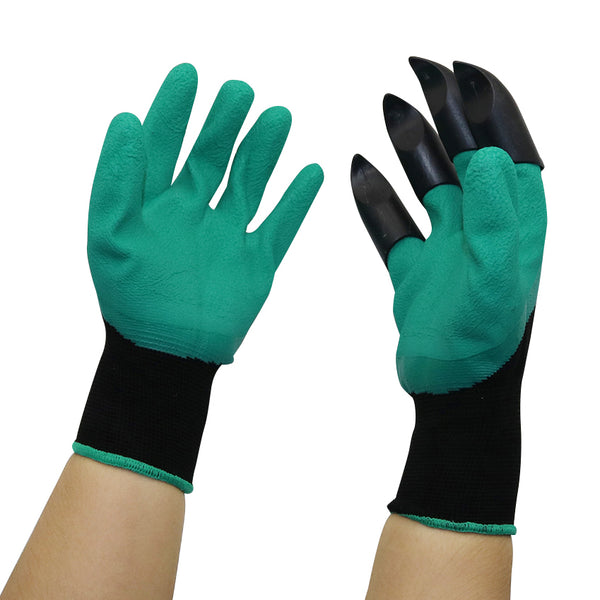 Garden Gloves with Fingertips Claws for Dig Plant Gardening Rose Planting Pruning Gloves Mittens Digging Gloves