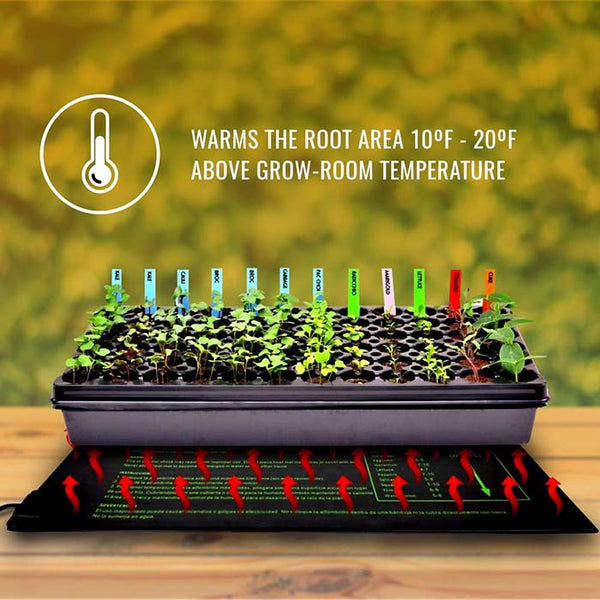 "Seedling Heat Mat (2 Pack: 10"" x 20.75"")"