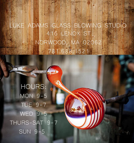 Contact Phone Address Luke Adams Glass Blowing Studio
