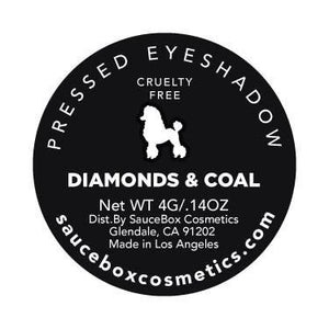 DIAMONDS & COAL SINGLE SHADOW SauceBox Cosmetics