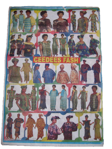 FASHION POSTER FROM STYLE SHOP IN KENYA AFRICA. ORIGINAL. RARE. COLLECTABLE.
