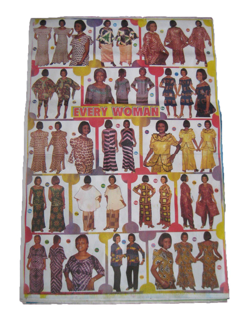 FASHION POSTER FROM STYLE SHOP IN TANZANIA AFRICA. ORIGINAL. RARE. COLLECTABLE.