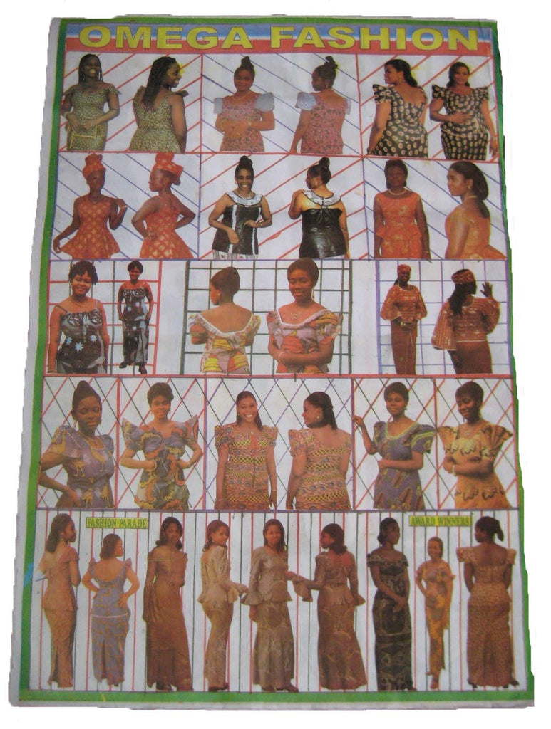 FASHION POSTER FROM STYLE SHOP IN AFRICA. ORIGINAL. RARE. COLLECTABLE.