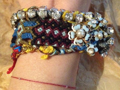 NOMAD - CHIC LIVE, LOVE & TRAVEL FRIENDSHIP IS A TREASURE BRACELET – WOVEN, HANDMADE , ONE OF A KIND, MADE TO ORDER