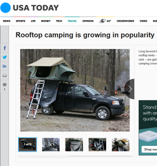Tepui Press- USA Today: Rooftop camping is growing in popularity