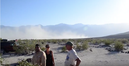 Death Valley Sand Storm Image