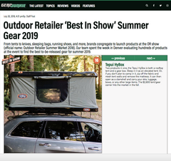 Tepui Press: Gear Junkie- Outdoor Retailer's best in show