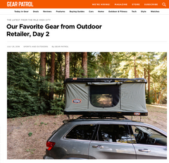 Tepui Press: Gear Patrol- Our Favorite Gear from Outdoor Retailer