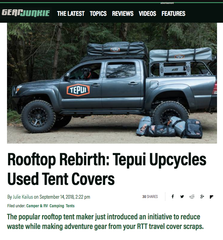 Gear Junkie: Tepui Upcycles Used Tent Covers