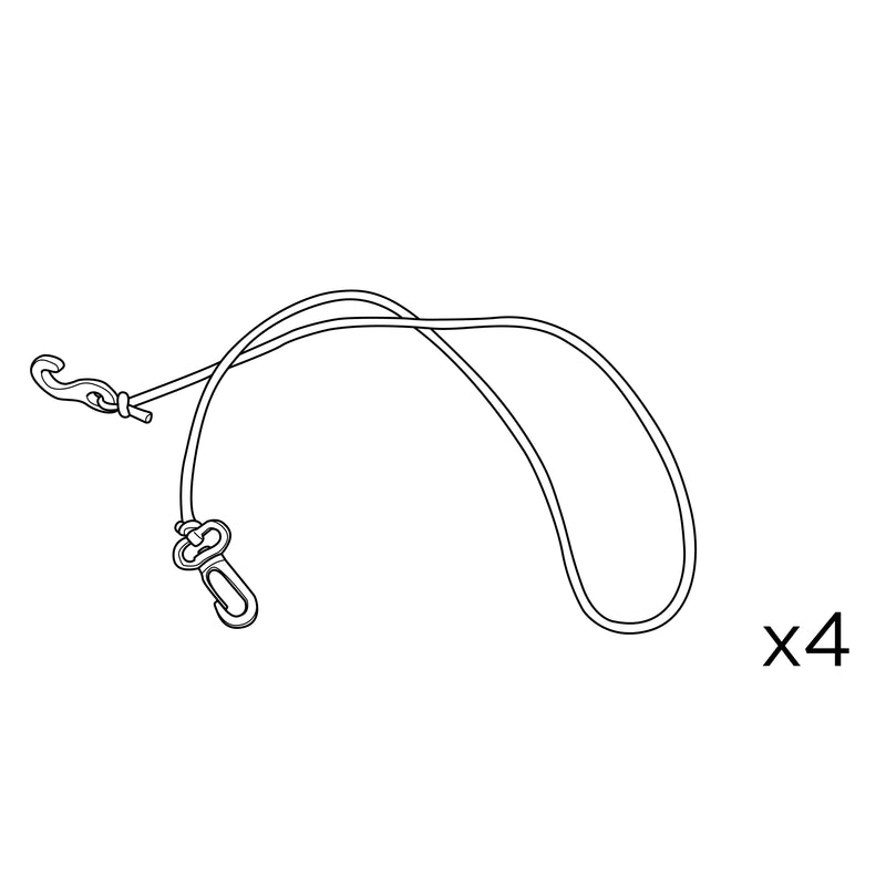 Spare Parts for Explorer Ayer 2 Bungee Cords (Set of 4)