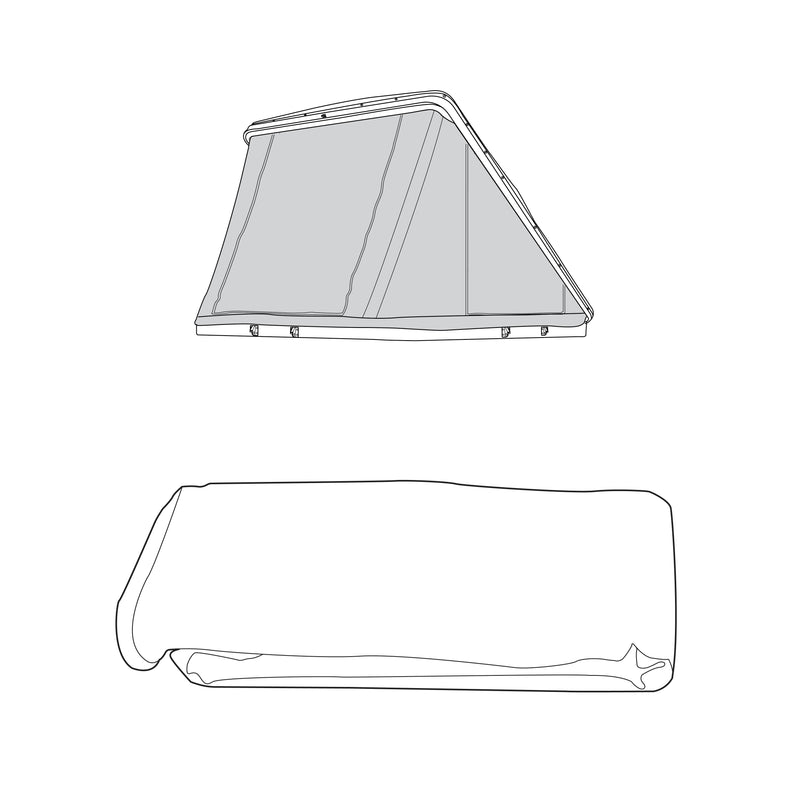 Spare Parts for HyBox Wedge Thule Tepui HyBox Wedge Canopy Package- Green