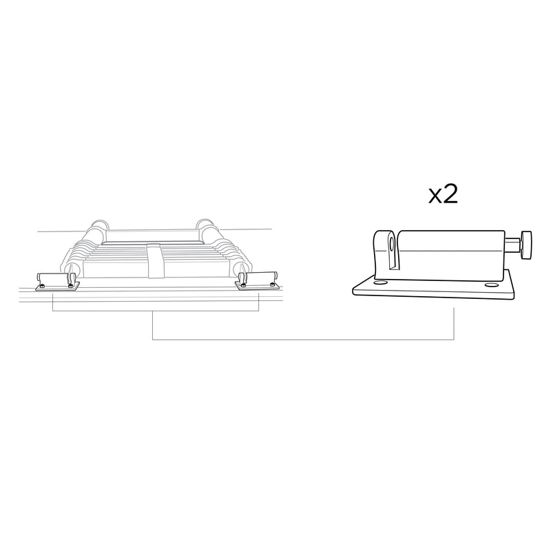 Spare Parts for Low-Pro 3 Low-Pro Ladder Bracket Set