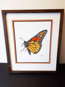 """Monarch Butterfly"" (#2/100) Framed Archival Pigment Print"