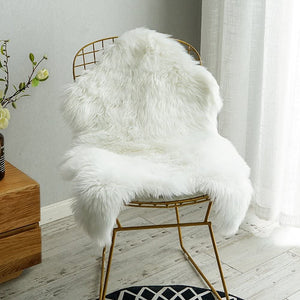 Luxury Faux Sheepskin Chair Cover