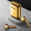 Golden Bluetooth Earphones