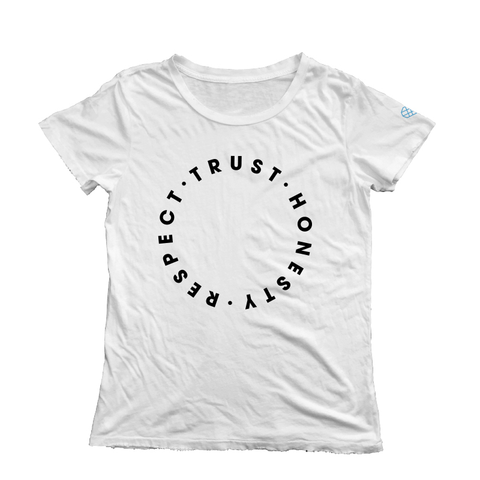 Trust Honesty Respect Short Sleeve Tee - White