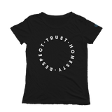 Trust Honesty Respect Short Sleeve Tee - Black