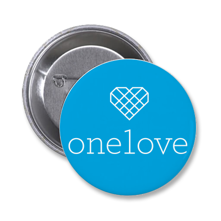 "One Love 1.5"" Button"