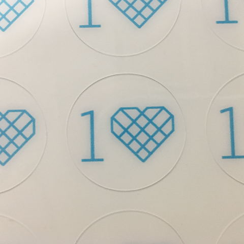 One Love - Sheet of 100 Helmet Decals
