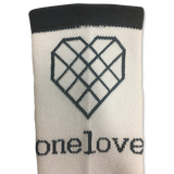 One Love Socks - Grey & Navy Blue