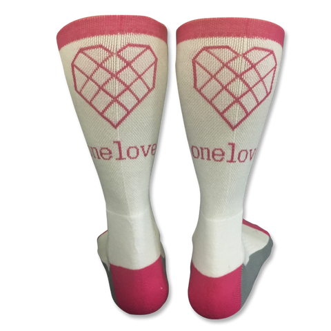 One Love Socks - Grey & Pink
