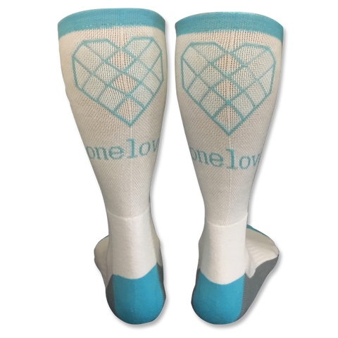 One Love Socks - Grey & Teal