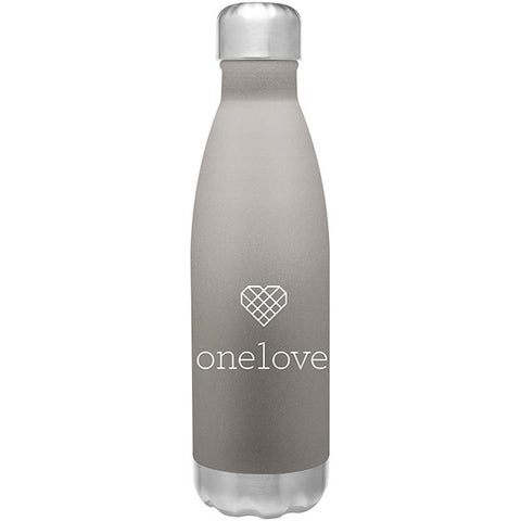 One Love Water Bottle - Matte Grey