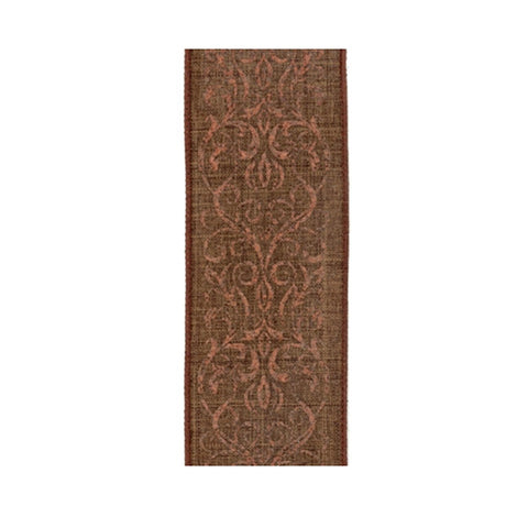 "Linen Copper Lace, Bark Ribbon - 2.5""x10yd"