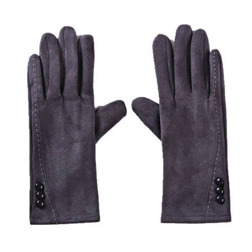 Suede Gloves   Grey