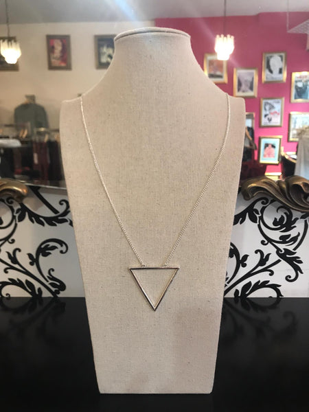 Triangle Necklace - Silver Plated